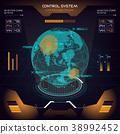 Interface UI design graphic illustration HUD 38992452