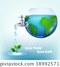 World water inside bowl with taps flush of leaves 38992571