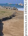 running aground, coast, seashore 38992623