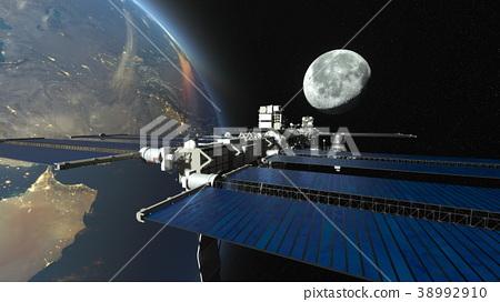 人造卫星 空间 宇宙的 38992910