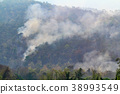 wildfire on mountain in thailand 38993549