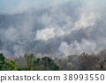 wildfire on mountain in thailand 38993550
