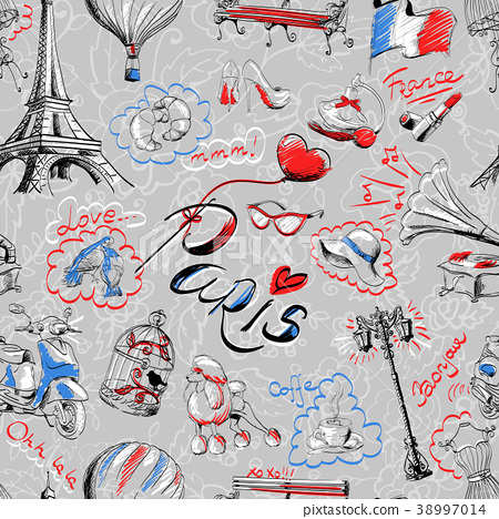 Seamless texture of Paris 38997014