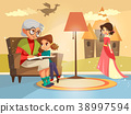 vector, granny, grandmother 38997594
