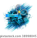 abstract blue background sport tennis 38998045