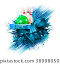 bowling background vector 38998050