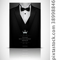 Black suit and tuxedo with bow tie 38998846
