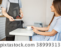 Coffee Business Concept - Waiter or bartender 38999313