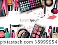 Sets of cosmetics on white background 38999954