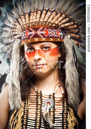 Native American Indian Chief War Bonner 39000861