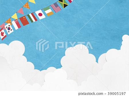 運動會見藍天旗子 39005197