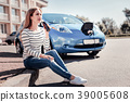 Beautiful pretty woman drinking cola and charging 39005608
