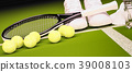 网球 球拍 球 39008103