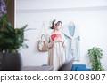 여성, 휴식, 소파 39008907
