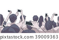 Party crowd at concert recording with phone 39009363