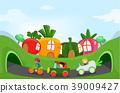 stickman, kids, garden 39009427