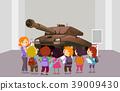 Stickman Kids Memorial Museum Tank Illustration 39009430