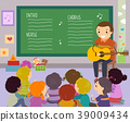 Stickman Kids Teacher Song Illustration 39009434
