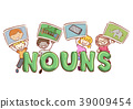 Stickman Kids Language Nouns Illustration 39009454