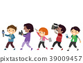 Stickman Kids Media Equipment Illustration 39009457