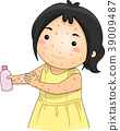 Kid Girl Chicken Pox Unscented Lotion Illustration 39009487