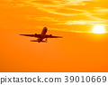 sunset, sunsets, air plane 39010669