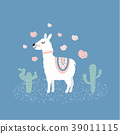 Cute llama illustration 39011115