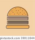 burger logo emblem colored shape line style 39011644