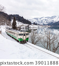 Train in Winter landscape snow 39011888