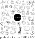 wild animals characters set color book 39012327