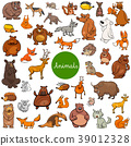 cartoon wild animal characters big set 39012328