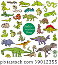 reptiles and amphibians characters set 39012355