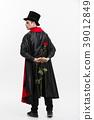 Vampire Halloween Concept - Portrait of handsome 39012849