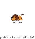 Lazy lion icon, logo design, vector illustration 39013369