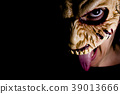 Zombie woman with dead living mask 39013666