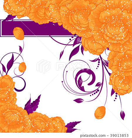 Abstract flower background. Floral  invitation 39013853