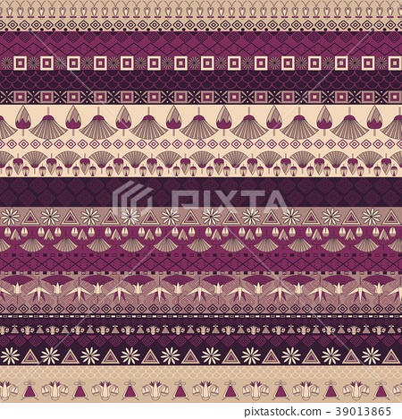 Ancient Egyptian ornament Tribal seamless pattern 39013865