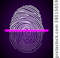 Fingerprint scanner illustration 39015659