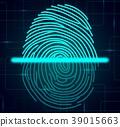 Fingerprint scanner illustration 39015663