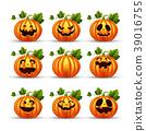 Halloween pumpkins set 39016755