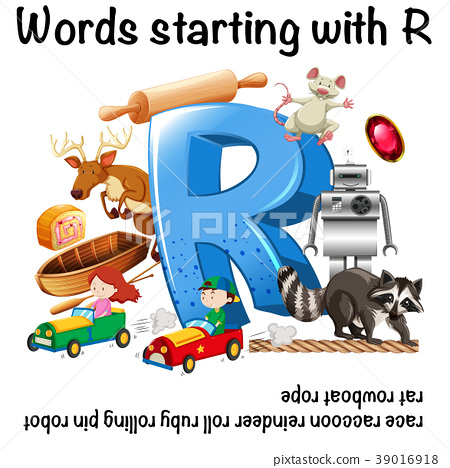 Worksheet design for words starting with R 39016918