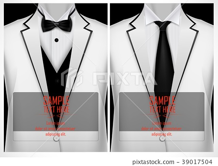 Set of business card templates with white jacket 39017504