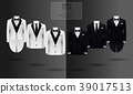 Set of black and white suits 39017513