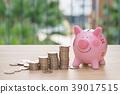 银行 河岸 小猪 39017515