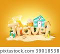 The word Travel made of 39018538