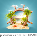Tropical landscape in a helm 39018590