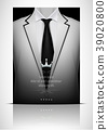 White suit and tuxedo with black tie 39020800