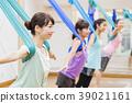 瑜伽空中瑜伽健身健身房女人 39021161
