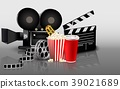 Film, popcorn and drink 39021689