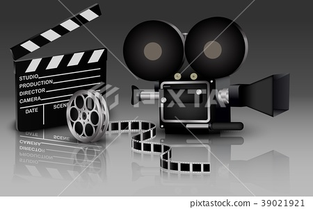 Illustration of camera with movie 39021921